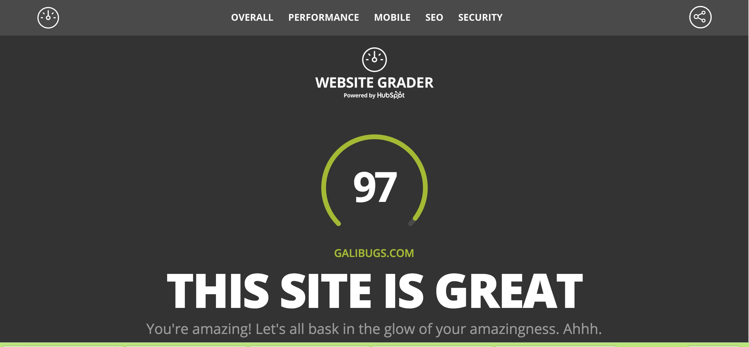 Website grading?
